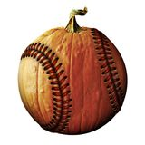 Baseball Pumpkin Stock Photo