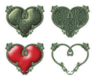 Vintage Hearts Stock Images