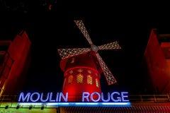 Moulin rouge at night, Photo image a Beautiful panoramic view of Paris Metropolitan City. Photo image a Beautiful panoramic view of Paris City vector illustration