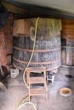 Classic Wood Wine Barrel. Photo Image of the Classic Wood Wine Barrel royalty free stock images