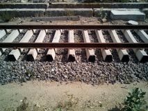 Railway Track. Photo of indian railway track Royalty Free Stock Photography
