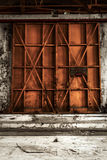 Photo industrielle fermée de plan rapproché de porte photo stock