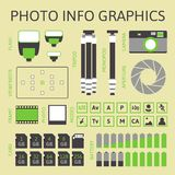 Photo infographics set, part one Stock Photos