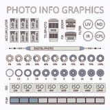 Photo infographics set, part two Stock Image