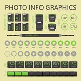 Photo infographics set, part two Stock Photo