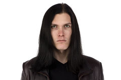 Photo of informal man with long hair Stock Image