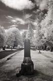 Photo infrarouge d'un cimetière photo libre de droits