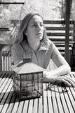 Photo infrarouge de femme âgée par milieu photo stock