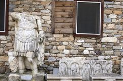 Statue of a man at the ruins of Aphrodisias Ancient City, Aydin / Turkey royalty free stock images