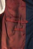 Photo of inner pocket of male jacket Stock Image