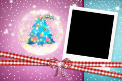 Photo instant frame Christmas tree Royalty Free Stock Photo