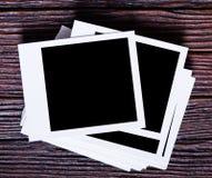 Photo instantanée blanc Photos libres de droits