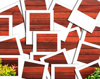 Photo instantanée en bois Photographie stock libre de droits
