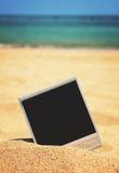 Photo instantanée sur une plage Image stock