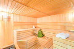 Photo Interior empty of sauna Royalty Free Stock Images