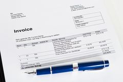 Photo of invoice Royalty Free Stock Photography