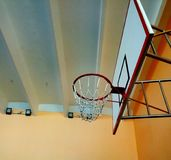 Picture of the basketball ring Royalty Free Stock Images