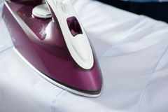 Photo of ironing the shirt Royalty Free Stock Photography