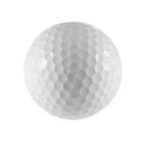Photo of isolated golf ball. Royalty Free Stock Photography