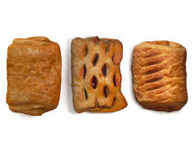 Photo of isolated puff pastries Royalty Free Stock Images