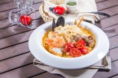 Photo italienne de cuisine de risotto photo stock