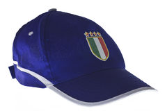 Italy hat. Photo of italy hat on white background Royalty Free Stock Images