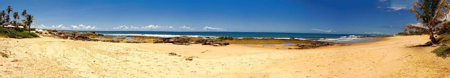 Itapua beach - Panoramic photo of Itapua beach, Salvador, Bahia, Brazil. Photo of Itapua beach - Panoramic photo of Itapua beach, Salvador, Bahia, Brazil stock photo