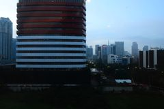 Building in the city of Jakarta stock images