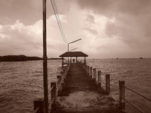 The photo of the jetty that extend into the sea. Royalty Free Stock Photography