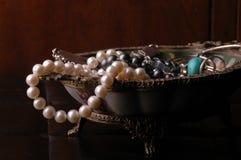 Photo of jewelry. Close up photo of jewelry box Royalty Free Stock Photo