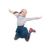 Photo of joyful little girl jumping Royalty Free Stock Image