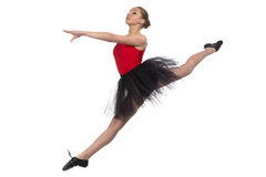 Photo of jumping ballerina Royalty Free Stock Photo