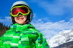 A photo of a junior skier Stock Photography