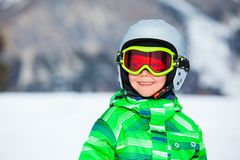 A photo of a junior skier Stock Image
