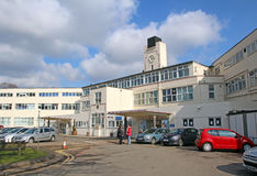 Kent & Canterbury hospital. Photo of kent & Canterbury hospital showing clock tower and built in 1937 and opened by king George V. Photo taken in March 2013 Stock Images