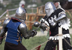 Photo of knights who fight Stock Photo