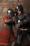 Photo of knights who fight Royalty Free Stock Image