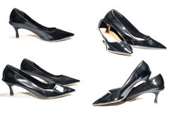 Photo of ladies black high heel shoes Royalty Free Stock Images
