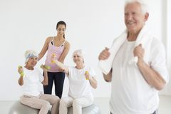 Photo of ladies working out Stock Photo