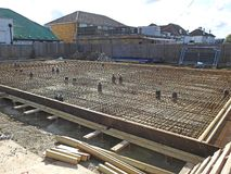 Construction site new homes Royalty Free Stock Photography