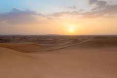 Photo of landscape of a desert in the United Arab Emirates Royalty Free Stock Image