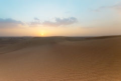 Photo of landscape of a desert in the United Arab Emirates Royalty Free Stock Photography