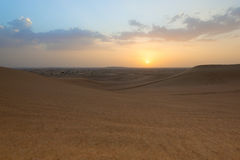 Photo of landscape of a desert in the United Arab Emirates Royalty Free Stock Photo