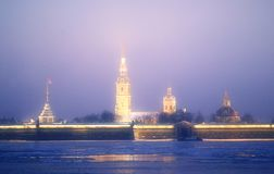Photo landscape Peter and Paul Fortress. In St. Petersburg Stock Photo