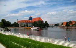 The photo with the landscape of the urban landscape in European city Royalty Free Stock Image