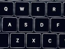Photo of laptop illuminant keyboard. It is a photo of laptop computer keyboard clavier fingerboard key panel keyset stock image