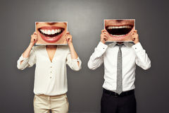 Photo of laughing merrily couple royalty free stock photography