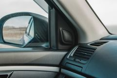 O of leather passenger compartment royalty free stock image