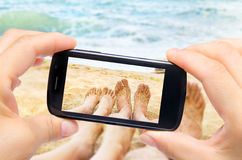 Photo legs in sea Stock Photo