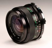 Photo lens. Close-up stock photography